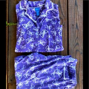 Simply Vera Wang Cozy Purple Brushed Flannel PJ's-Small